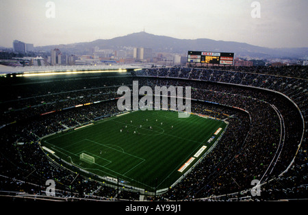 Camp Nou, home of FC Barcelona football club, Catalonia, Spain. - Stock Photo