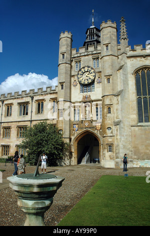 King Edward's Tower at Great Court in Trinity College, Cambridge, UK - Stock Photo