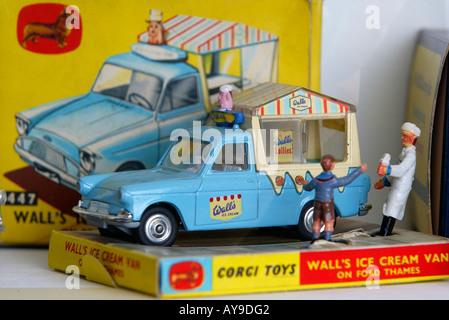 Corgi Toys Wall's Ice Cream Van from the 1960s - Stock Photo