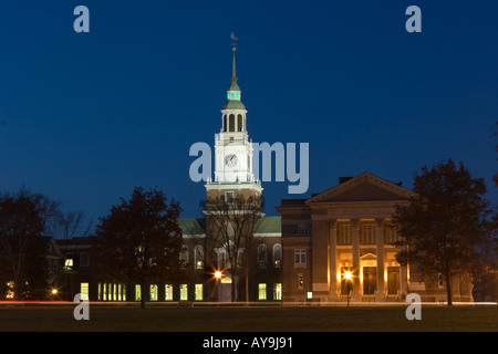 Rauner Library, overlooking the town green at Dartmouth College, Hanover, NH - Stock Photo