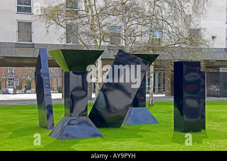 Phillip  Kings sculpture Span on the Sidgwick Site in Cambridge. Cambridgeshire. East Anglia. UK. - Stock Photo