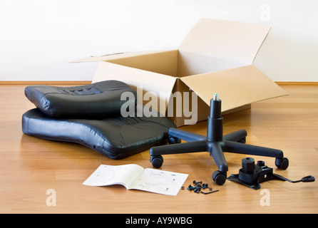 Flat pack self assembly furniture instructions stock photo royalty free image 17604408 alamy - Diy tips assembling flat pack furniture ...