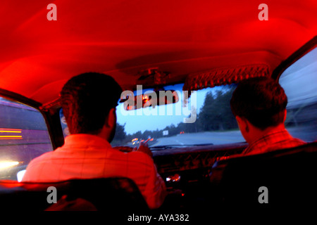 Inside taxi Syria - Stock Photo
