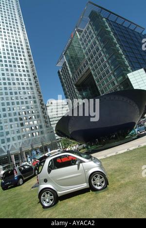 London Canary Wharf Motor Expo car motor show Daimler Chrysler Smart car - Stock Photo