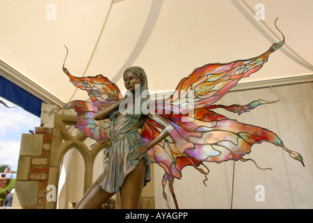 UK Cheshire Knutsford Tatton Hall RHS Flower Show Enchanting Fairy garden ornament - Stock Photo