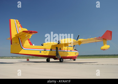 Canadair CL-415 '877' water bomber Croatian Air Force - Stock Photo