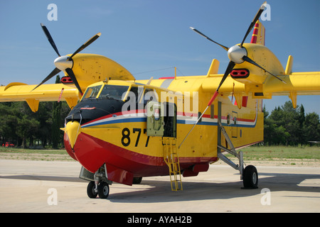Canadair CL-415 877 water bomber Croatian Air Force - Stock Photo