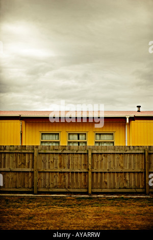 Building and fence Palmerston North New Zealand - Stock Photo