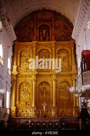 Largest Church in Goa Se Cathedral is in Old Goa - Stock Photo