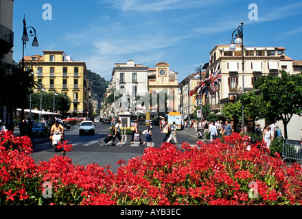 The town centre of  Sorrento on the Amalfi coast of Italy - Stock Photo