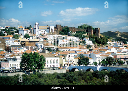 The Moorish town and Castle at Silves, Algarve Portugal - Stock Photo