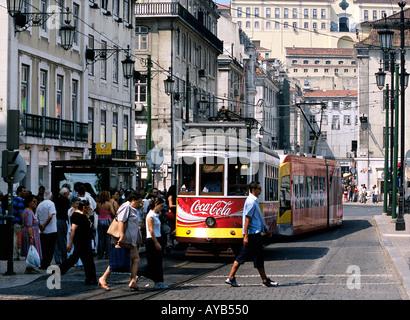 Lisbon Portugal City centre - Stock Photo
