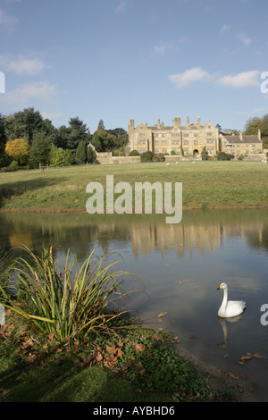An autumn day at Batsford Park House next to  the 50-acre Batsford Arboretum near Moreton in Marsh - Stock Photo