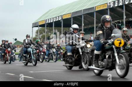 Goodwood Revival 2006 Rockers on the race track - Stock Photo