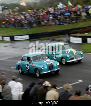 Goodwood Revival 2006 St Mary s trophy race L R A MG Magnette and an Australian Holden - Stock Photo