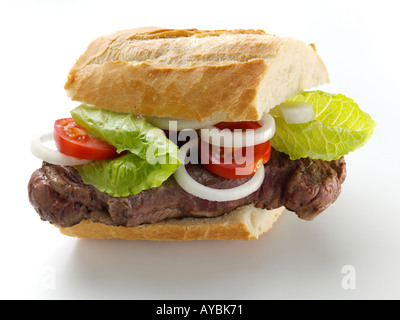 Sirloin Steak Sandwich - Stock Photo