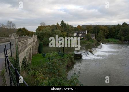 The toll bridge over the River Avon - Stock Photo