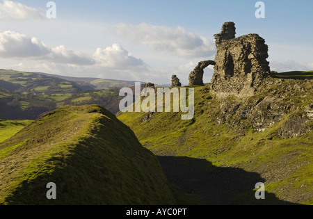 Wales, Denbighshire, Llangollen. The ruins of Castell Dinas Bran, built by Welsh Prince Madog ap Gruffydd Maelor - Stock Photo