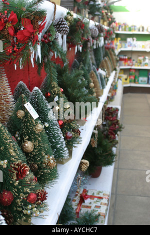 small artificial christmas trees on sale at a garden centre in the uk stock - Artificial Christmas Trees Sale