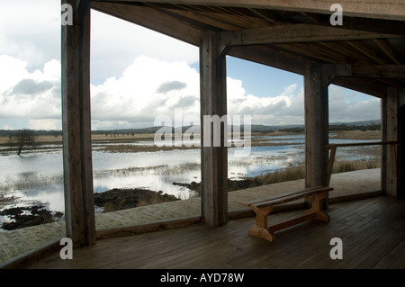 Cors Caron RSPB Royal Society for the Protection of Birds nature reserve Tregaron Ceredigion Wales UK - Stock Photo