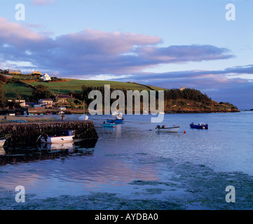 calm tidal sea inlet on irelands scenic indented coastline - Stock Photo