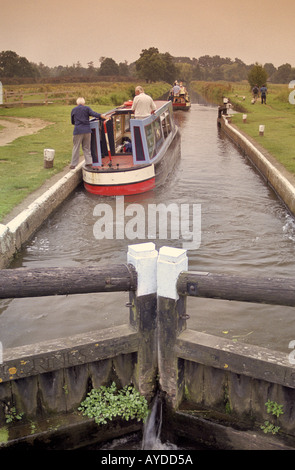 River Wey Navigation Near Guildford Surrey UK - Stock Photo