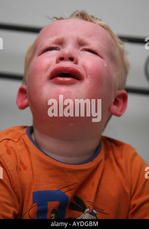 Toddler having a tantrum - Stock Photo