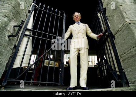 Author Tom Wolfe at the Hay literary festival in Hay on Wye Herefordshire UK on 7 June 1999 - Stock Photo