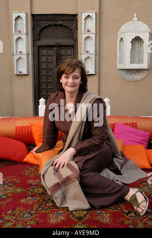Lahore Cherie Booth QC lawyer and wife of British Prime Minister Tony Blair visits a haveli traditional home - Stock Photo