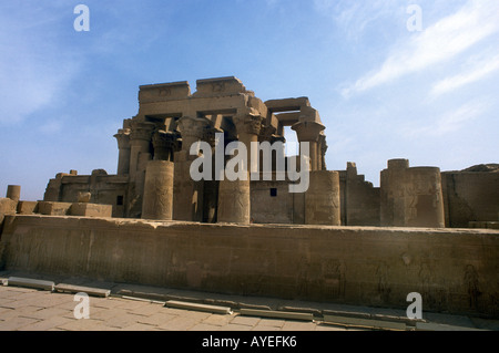 Temple of Haruris and Sobek Kom Ombo Egypt - Stock Photo