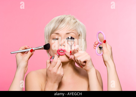 Woman being made up - Stock Photo
