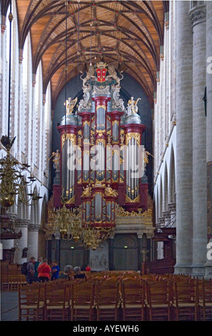 The organ in Sint-Bavokerk (St Bavo's churchl), Haarlem, The Netherlands - Stock Photo