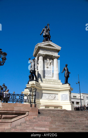 Monument to Naval Heroes of Iquique in Valparaiso Chile - Stock Photo