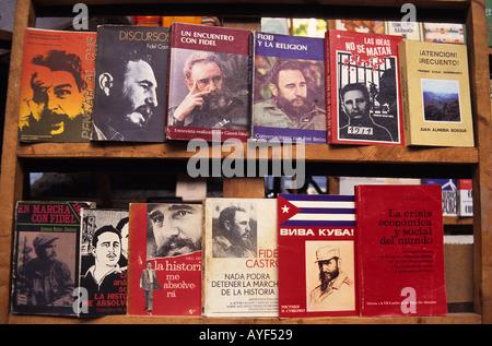 Cuba La Habana Fidel Castro books at Book Market Copyright Sergio Pitamitz - Stock Photo