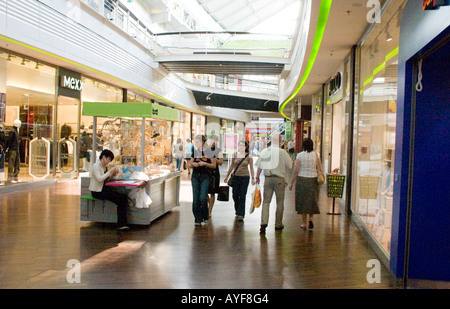 Shopping mall at Manufaktura entertainment and cultural center. Lodz Central Poland - Stock Photo
