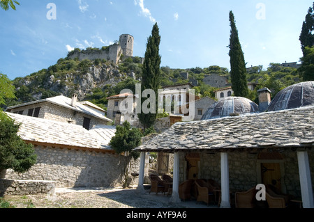 The Citadel overlooking the town of Počitelj in the western part of Bosnia Herzegovina. - Stock Photo