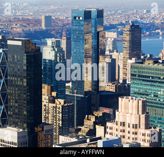 Time Warner Building, New York City - Stock Photo