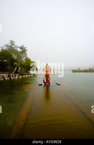 Mauritius - Grand Bassin - Hindu Deity on the sacred lake - Stock Photo