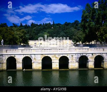 Tour magne jardin de la fontaine fountain garden nimes france stock photo royalty free image - Petit jardin proven nimes ...