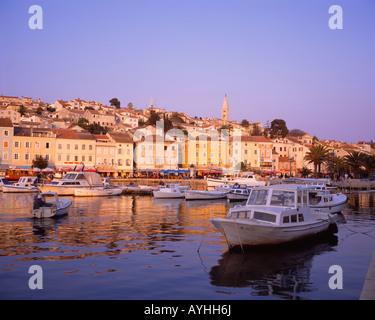 Mali Losinj town and harbour, Losinj Island, Kvarner Gulf, Croatia. - Stock Photo