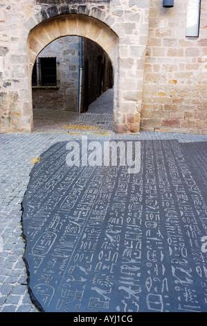 Lot  Figeac  Place des Ecritures  Champollion - Stock Photo