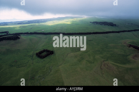 aerial view, northern part of Hawaiis big island - Stock Photo