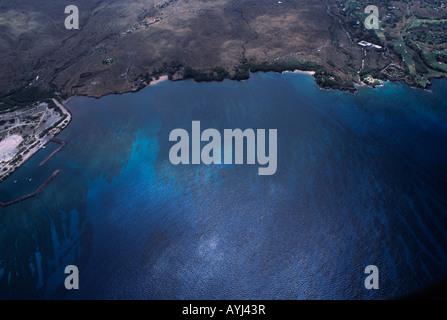 aerial view of Hawaiis big island - Stock Photo