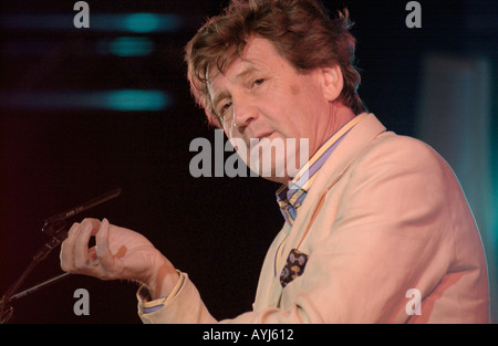 Melvyn Bragg broadcaster, arts critic & novelist pictured at Hay Festival 2004 Hay on Wye Powys Wales UK - Stock Photo