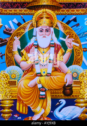 The Creator Indian God Brahma - Stock Photo