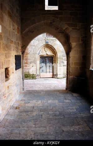 Lot - Figeac - Place des Ecritures - Champollion - Stock Photo