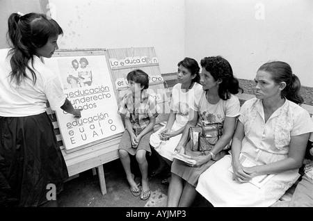 Adult literacy class. Honduras - Stock Photo