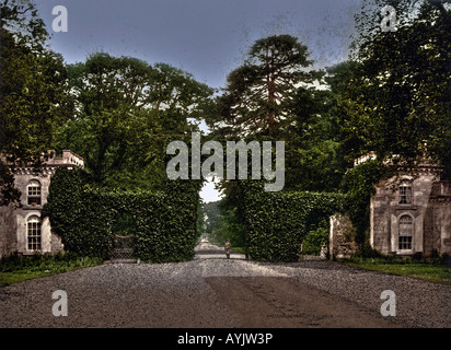 Eglinton Castle Entrance Gate Irvine North Ayrshire Scotland - Stock Photo