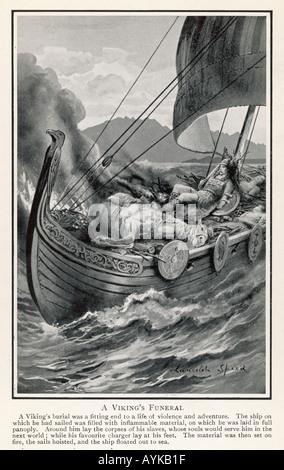 Viking Funeral - Stock Photo