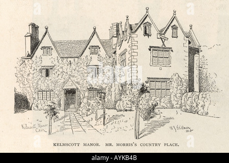 Morris Kelmscott Manor - Stock Photo